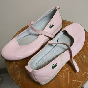 Lacoste baby doll/ballet flats in pink